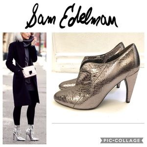 Sam Edelman Metallic Snake skin Booties